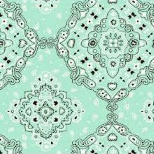 Tecido Tricoline Estampado 100% Algodão Bandana Verde Claro 2272-12