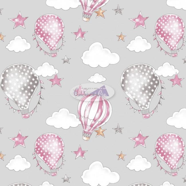 Tecido Tricoline Estampado 100% Algodão Coleção Circus Balões 180636-02