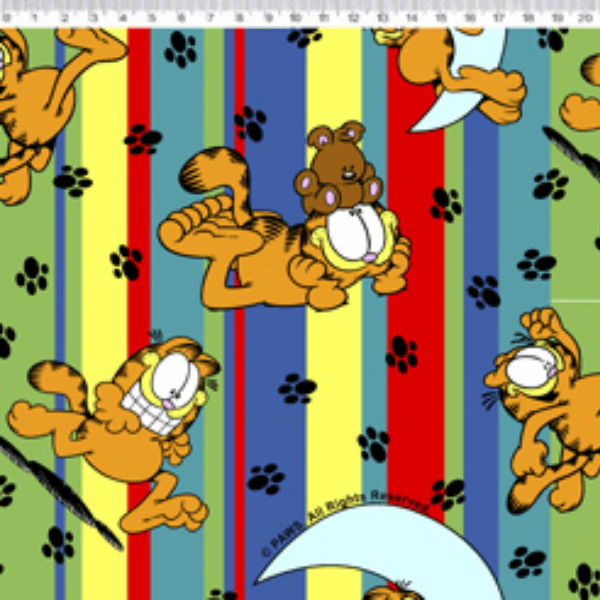 Tecido Tricoline Personagens Garfield GA010C01