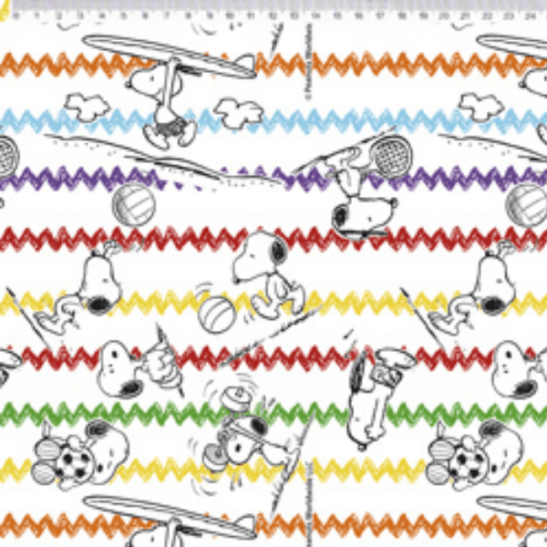 Tecido Tricoline Personagens Snoopy SN020C01