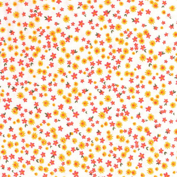 Tecido Malha de Algodão Estampada Floral Des. 0013