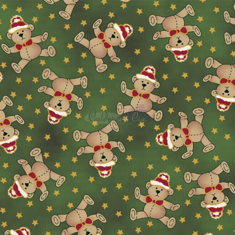 Tecido Tricoline Estampado Natal Cor - 05 (Verde)