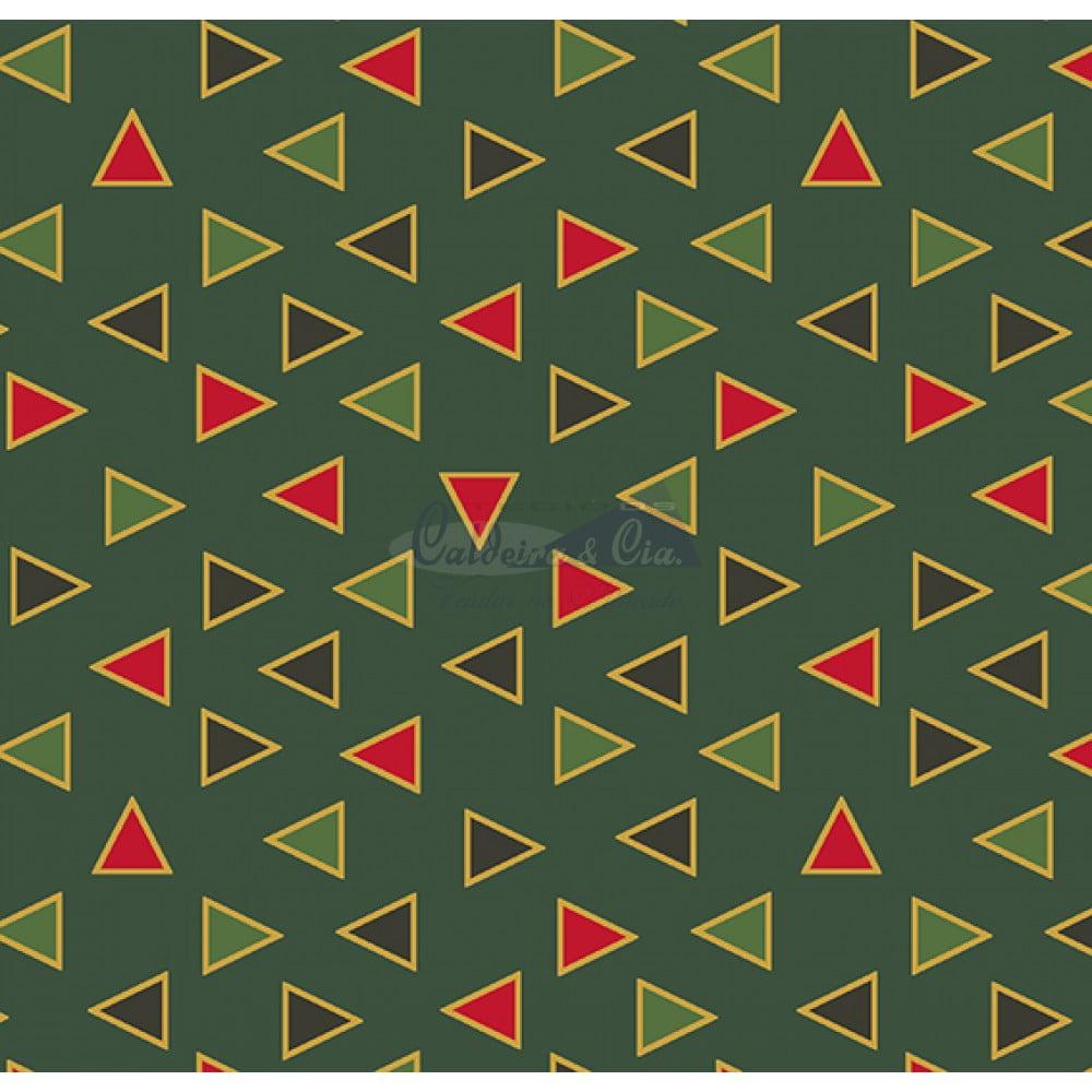 Tecido Tricoline Estampado Natal Cor - 14 (Verde)