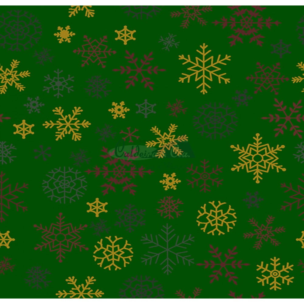 Tecido Tricoline Estampado Natal Cor - 64 (Verde)