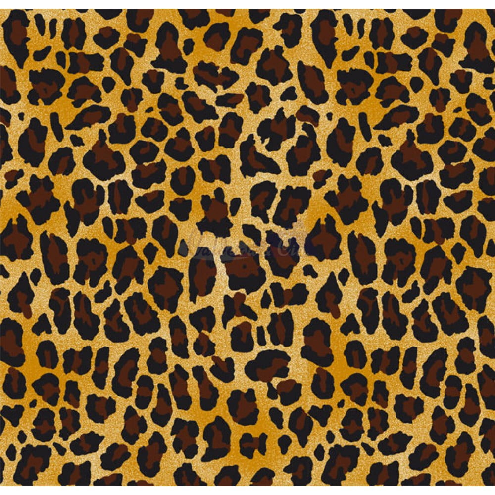 Tecido Tricoline Estampada Animal Print Leopardo