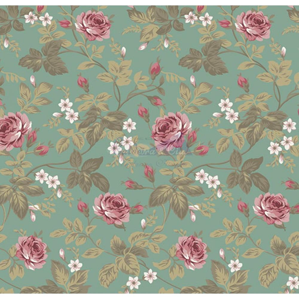 Tecido Tricoline Estampado 100% Algodão Floral 180688-06
