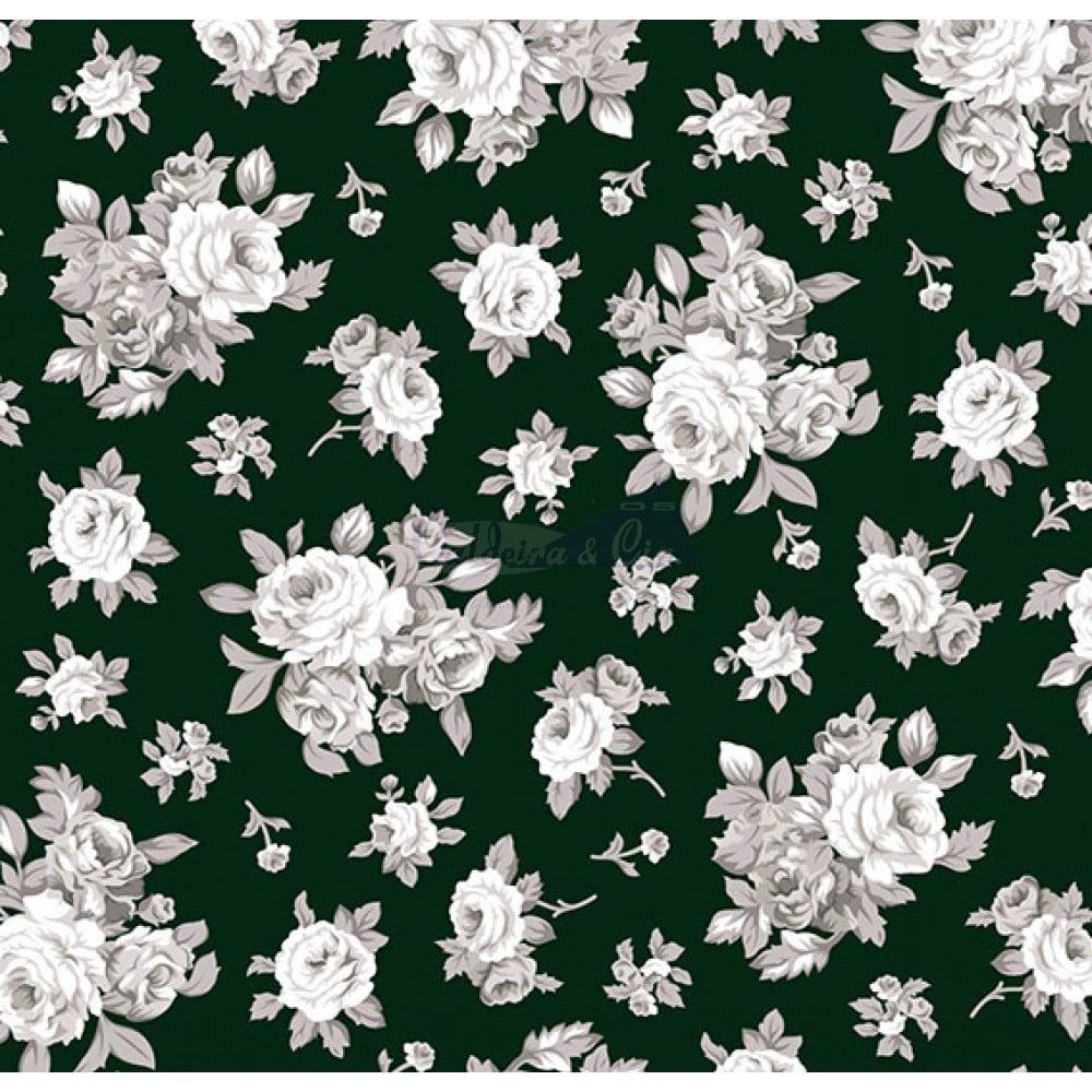 Tecido Tricoline Estampado 100% Algodão Floral 180690-02