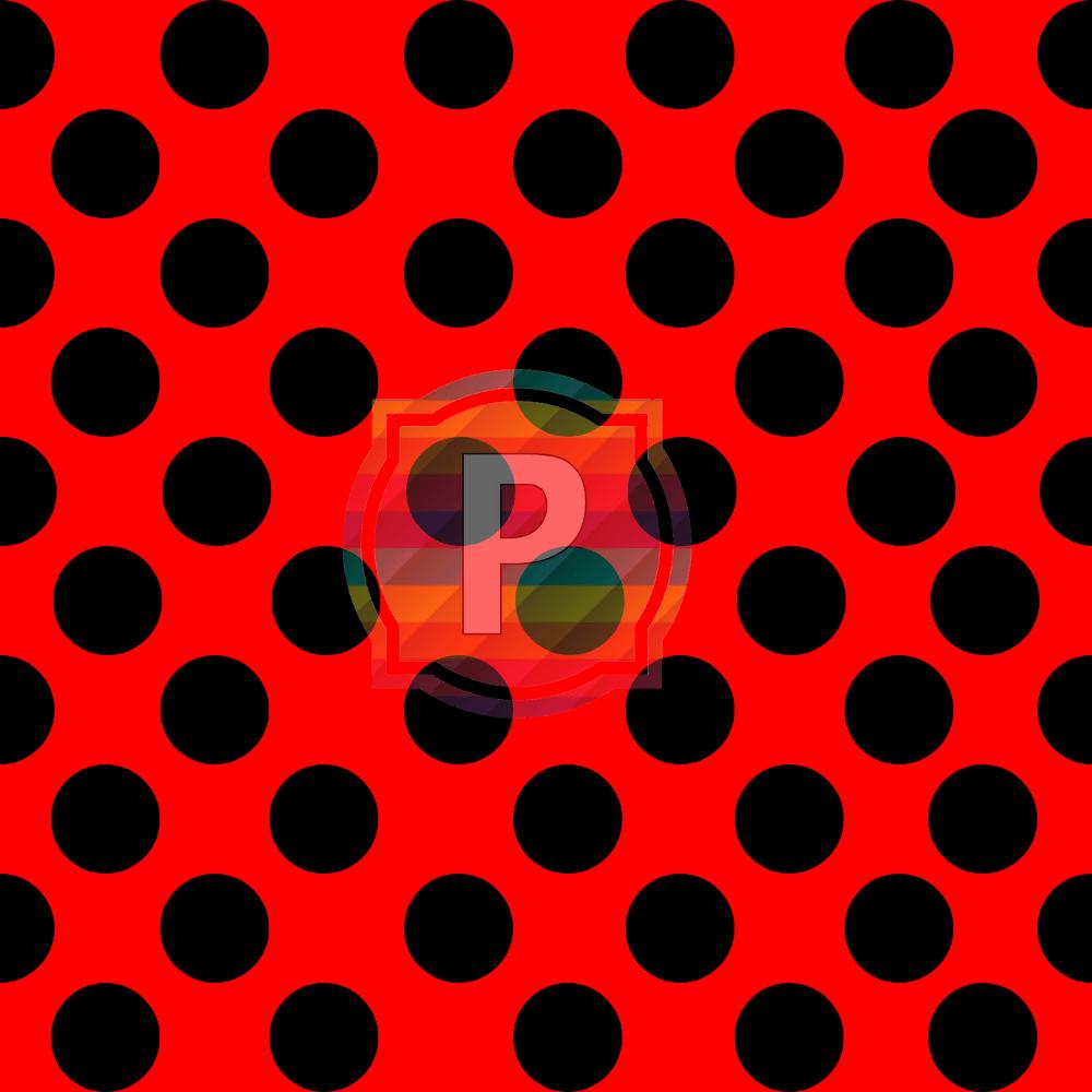 Tecido Tricoline Estampado Bolão Cor - 20 (Vermelho Com Preto)