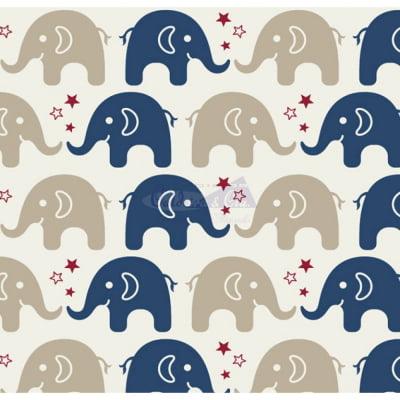Tecido Tricoline Estampado 100% Algodão  Elefante 180604-04