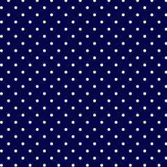 Tecido Tricoline Estampado 100% Algodão Bolinhas Poás Marinho c/ Branco 1401-08