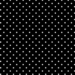Tecido Tricoline Estampado 100% Algodão Bolinhas Poás Preto c/ Branco 1401-01