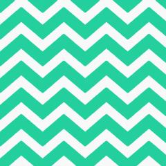 Tecido Tricoline Estampado 100% Algodão Chevron Verde Tiffany 1101-19