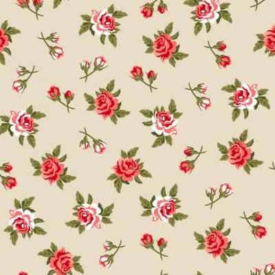 Tecido Tricoline Estampado 100% Algodão Floral 6324var32
