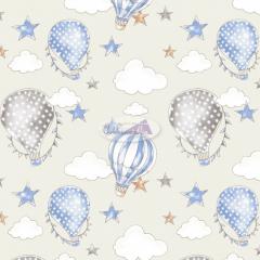 Tecido Tricoline Estampado 100% Algodão Coleção Circus Balões 180636-05