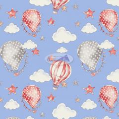 Tecido Tricoline Estampado 100% Algodão Coleção Circus Balões 180636-06