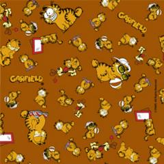 Tecido Tricoline Personagens Garfield GA006C03