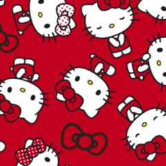 Tecido Tricoline Personagens HELLO KITTY HK002C02