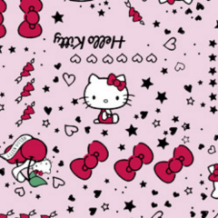 Tecido Tricoline Personagens HELLO KITTY HK007C01