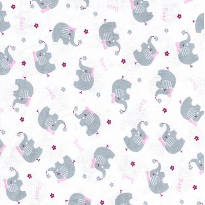 Tecido Malha de Algodão Estampada Elefantinho Des. 009
