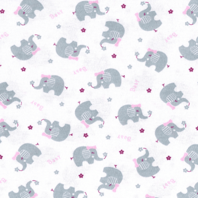 Tecido Malha de Algodão Estampada Elefante Des. 0066