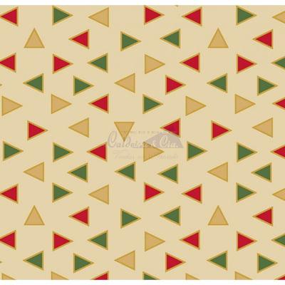 Tecido Tricoline Estampado Natal Cor - 15 (Bege)
