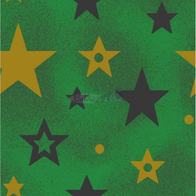 Tecido Tricoline Estampado Natal Cor - 73 (Verde)