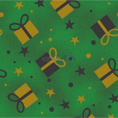 Tecido Tricoline Estampado Natal Cor - 76 (Verde)