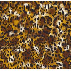 Tecido Tricoline Estampada Animal Print Guepardo Cor 01 (Dourado e Preto)