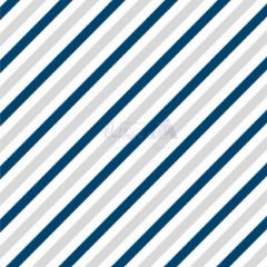 Tecido Tricoline Estampada Diagonal Cor 02 (Cinza Com Marinho) 180565-02