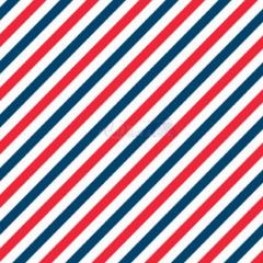 Tecido Tricoline Estampada Diagonal Cor 04 (Vermelho Com Marinho) 180565-04