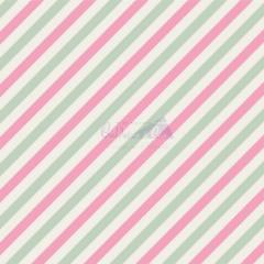 Tecido Tricoline Estampada Diagonal Cor 06 (Verde Com Rosa) 180565-06