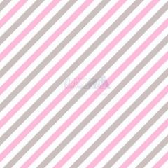 Tecido Tricoline Estampada Diagonal Cor 07 (Rosa Com Cinza) 180565-07