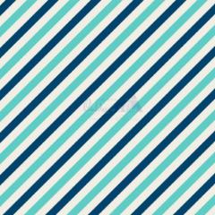 Tecido Tricoline Estampada Diagonal Cor 08 (Tiffany Com Marinho) 180565-08