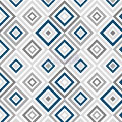 Tecido Tricoline Estampada Geométrico Cor 02 (Cinza Com Marinho) 180658-02