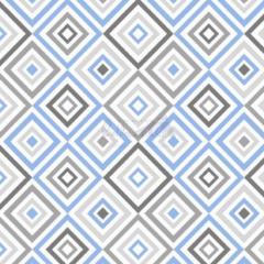 Tecido Tricoline Estampada Geométrico Cor 03 (Azul Com Cinza) 180658-03