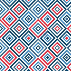 Tecido Tricoline Estampada Geométrico Cor 04 (Vermelho Com Marinho) 180658-04