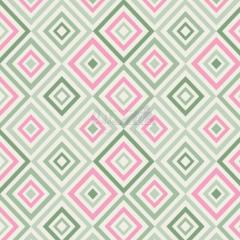 Tecido Tricoline Estampada Geométrico Cor 06 (Verde Com Rosa) 180658-06