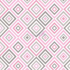 Tecido Tricoline Estampada Geométrico Cor 07 (Rosa Com Cinza) 180658-07