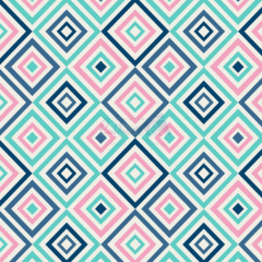 Tecido Tricoline Estampada Geométrico Cor 08 (Tiffany Com Marinho) 180658-08