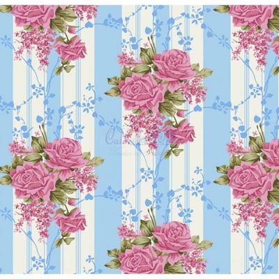 Tecido Tricoline Estampado 100% Algodão Floral 180687-05
