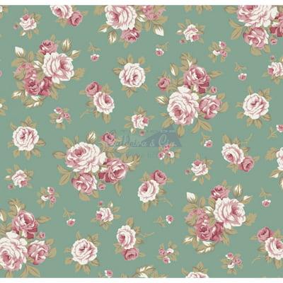 Tecido Tricoline Estampado 100% Algodão Floral 180690-06
