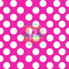Tecido Tricoline Estampado Bolão Cor - 11 (Pink)