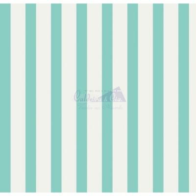 Tecido Tricoline Estampado Smart 180368-09  Cor (Tiffany)