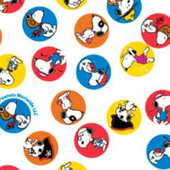 Tecido Tricoline Personagens Snoopy SN011C01