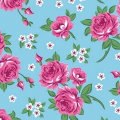 Tecido Tricoline Estampado Floral 2640-01