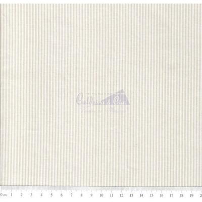 Tecido Tricoline Fio Tinto Listrado D.Juan Cor - 1033A (Bege)