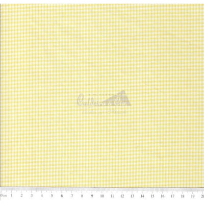 Tecido Tricoline Fio Tinto Xadrez 1XM Cor - 1042-02 (Amarelo)