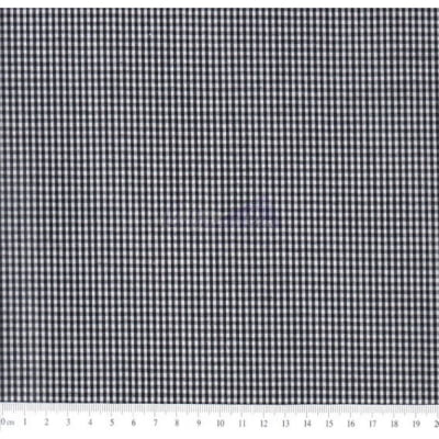 Tecido Tricoline  Fio Tinto Xadrez 1XM Cor -1049-05 (Preto)