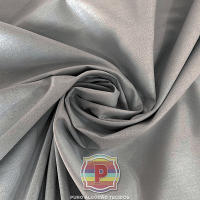 Tecido Tricoline Lisa 100% Algodão Cinza Prata 1960