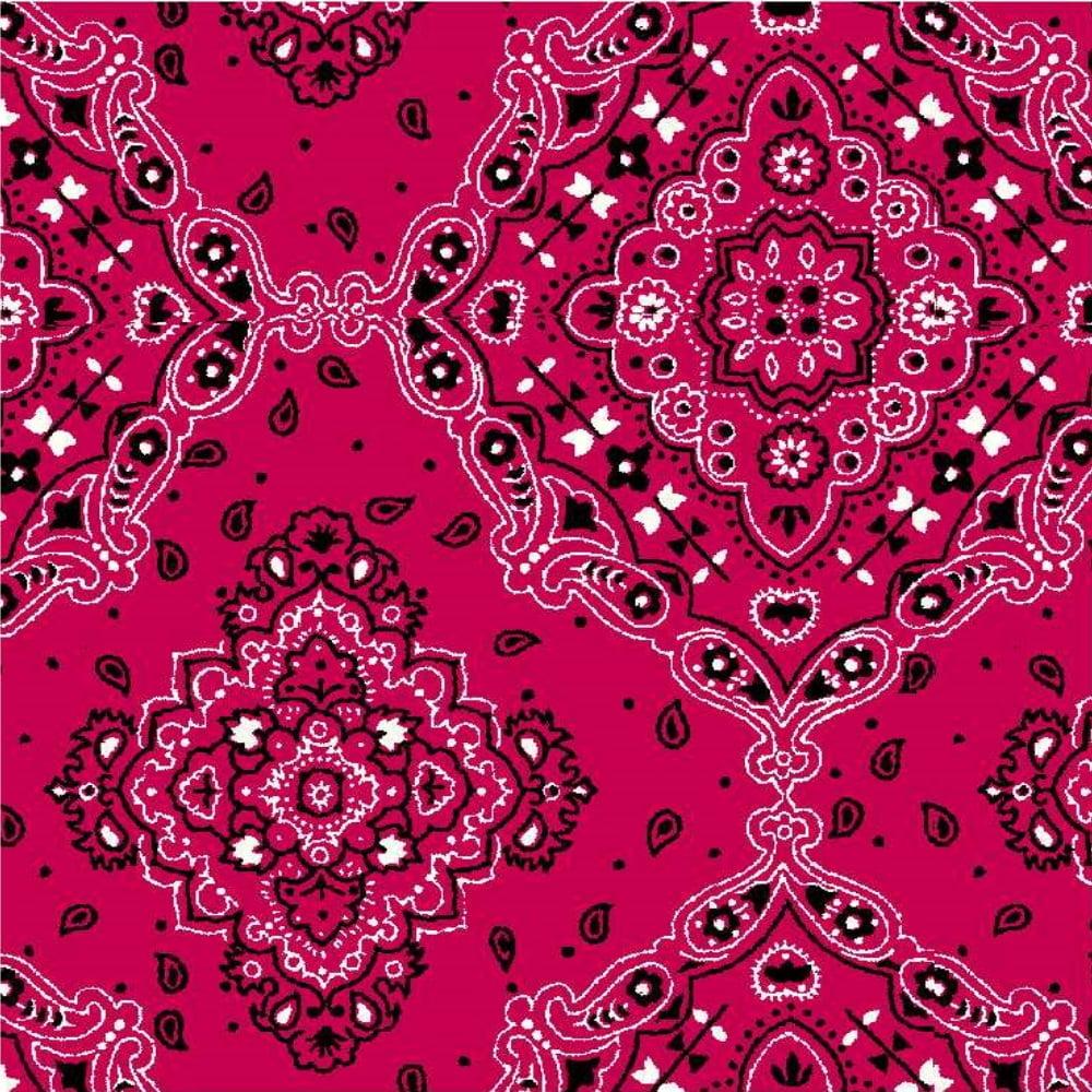 Tecido Tricoline Estampado 100% Algodão Bandana Pink 2272-08